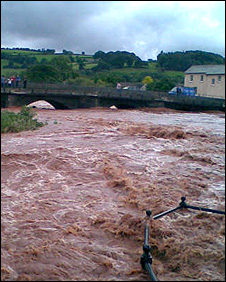 The river Usk at Brecon. Photo: Sue