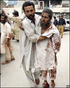 Wounded man in Peshawar