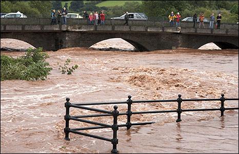 River Usk at Brecon. Photo: Steve Thomas