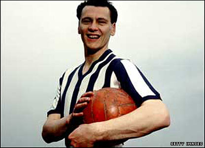 Bobby Robson's playing career sees him appear for West Brom 