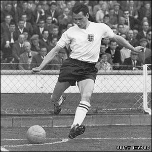 Robson playing for England in 1962