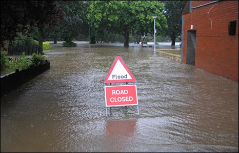 of flooding in England.