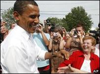 Барак Обама в ходе предвыборной кампании