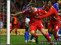 Sam Vokes celebrates his late Wales winner