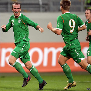 Whelan celebrates Ireland's winner