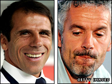 Gianfranco Zola and Roberto Donadini