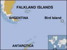 Map of Bird Island