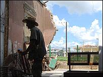 Casa destruída en Cuba /Foto: Raquel Pérez