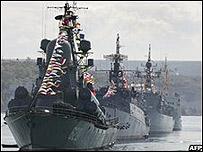 Buques rusos en Sevastopol
