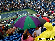 Match delays and umbrellas could soon be a thing of the past at the US Open