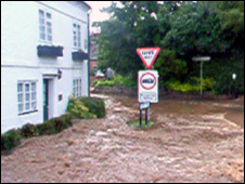 Flooding in Belbroughton, Worcestershire. Pic by Steve Brown