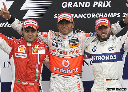 Massa and Nick Heidfeld claim second and third spots respectively