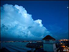 The sky above Havana on 7 September