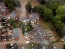More than 1,000 properties were flooded