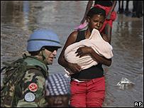 Damnificados en Haití