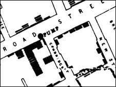 Snow's cholera map
