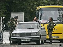 Soldados rusos en Georgia