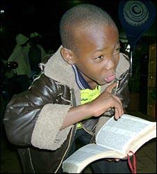 Ugandan boy Muwanguzi Achilewo