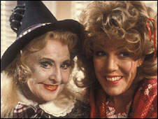 Molly Weir as McWitch and Sue Nicholls as Miss Popof