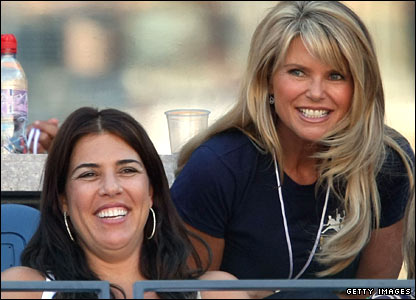Jennifer Capriati (left) and Christie Brinkley