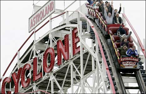 The Cyclone roller coaster. Photo: April 2007