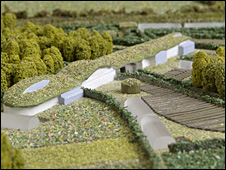 Model of proposed terraced house in the eco-village