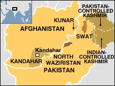 Pakistan-Afghanistan map