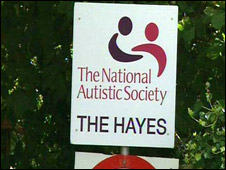 Sign leading to the Hayes unit