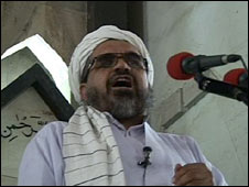Enayatullah Baleegh speaks in a mosque