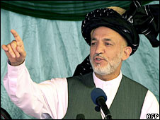 Afghanistan's President Hamid Karzai. Photo: July 2008