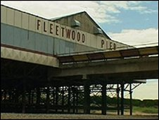 Fleetwood Pier before the fire