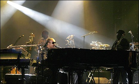 Stevie Wonder performing in Birmingham
