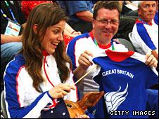 Kate Ellis and Gerry Sutcliffe in Beijing