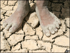Feet on parched soil (Image: AP)
