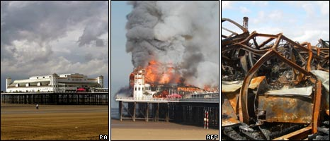 Before, during and after the fire