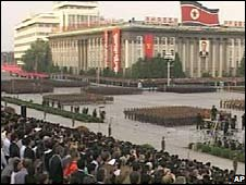 North Korean parade