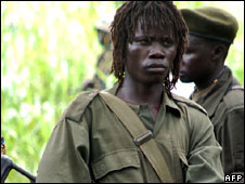 LRA fighters in DR Congo