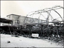 The pier after the fire in 1952