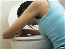 Vomiting woman