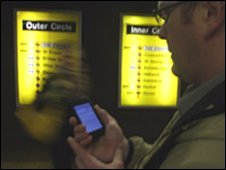 Phone on the subway
