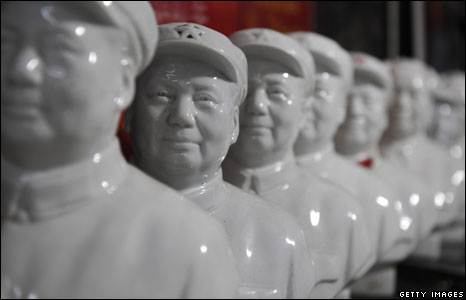 Mao busts in a gallery in Chengdu of Sichuan province, China