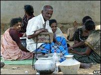 Displaced people in Sri Lanka
