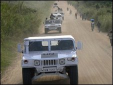 UN vehicle in DR Congo