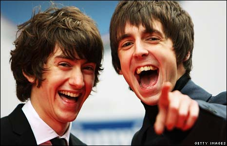 Alex Turner and Miles Kane of the Last Shadow Puppets