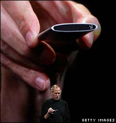 Apple chief Steve Jobs unveils the new iPod Nano