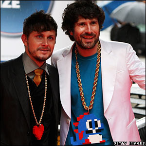 Gruff Rhys (r) and Bryan Hollon of Neon Neon