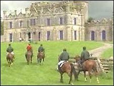 Horse-riding at the Necarne estate