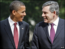 Barack Obama and Gordon Brown