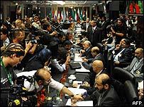 Reunión de la OPEP en Viena.