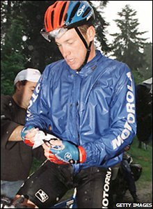 Armstrong is diagnosed with testicular cancer in 1996